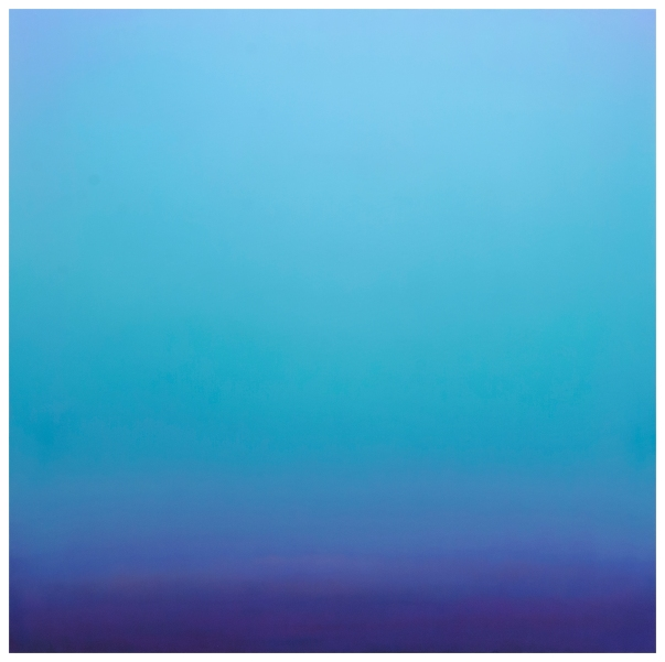 Blue Contemplation - 2014 - oil on canvas - 76.77 X 76.77 in - Contemplacao Azul - 2014 - óleo sobre tela - 195 X 195 cm